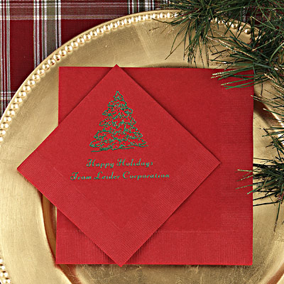 Christmas Wedding Napkins Personalized Winter Wedding Ideas